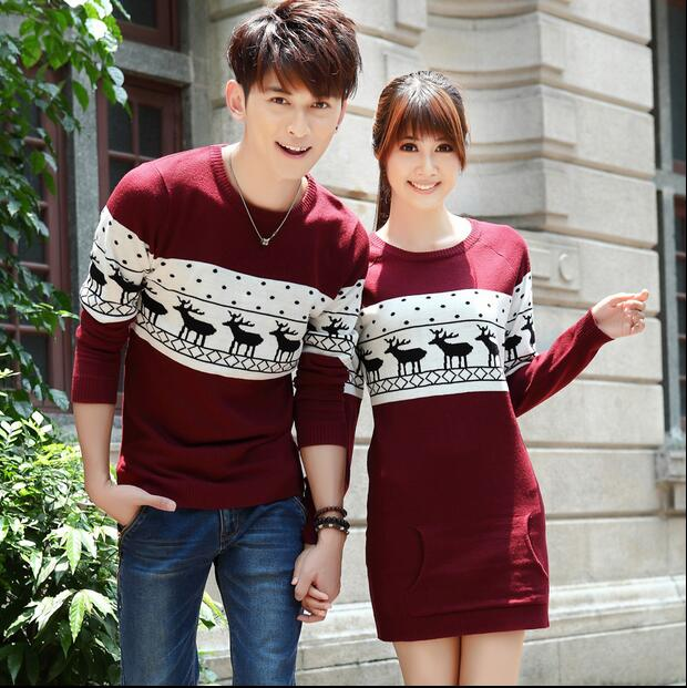 88032f524d Top Quality christmas sweater for men and women couples matching christmas  sweaters for lovers couple Christmas Deer sweaters
