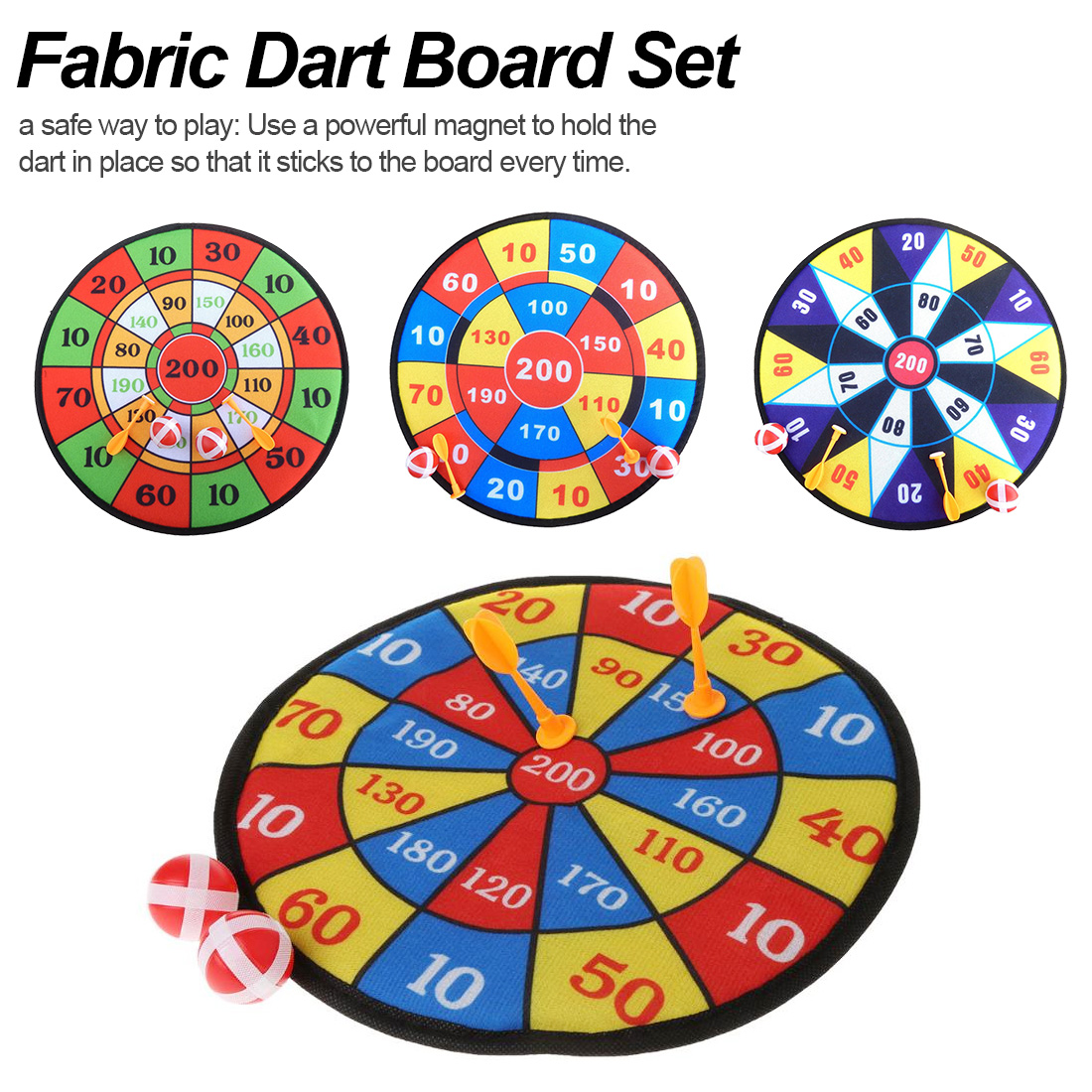 Sports Toys Fabric Dart Board Set Kid Ball Target Game For Children Security Toy Gifts New