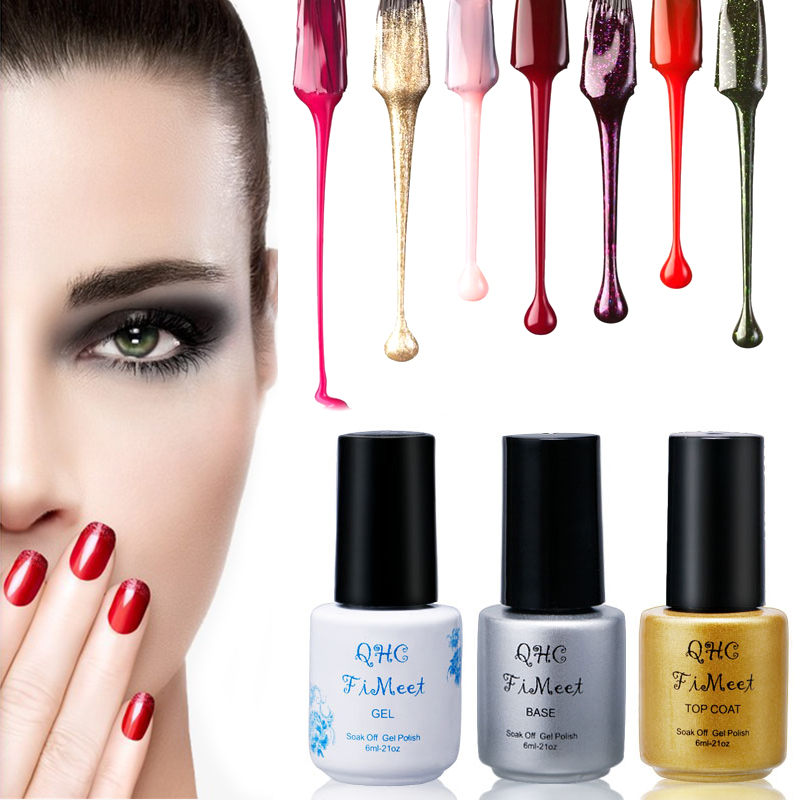 2017 Hot Sale QHC Charming Women Sweet Girl Color Long Lasting Manicure Soak-off lacquer Nail Glue Nail Polish finger ink