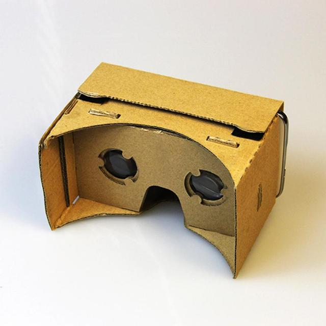 DIY Google Cardboard Virtual Reality VR Mobile Phone 3D Viewing Glasses for 5.0″ Screen Wholesale