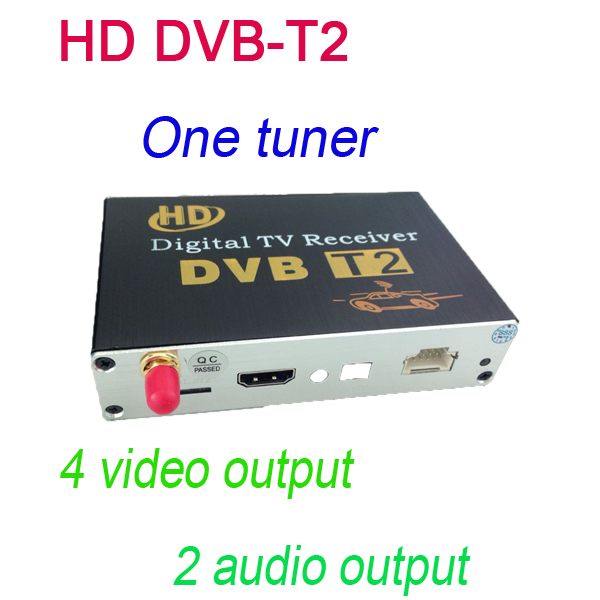 HD DVB-T2 One Tuner Digital TV receiver 4 Video Output 2 Audio Output Fit All Car dvd M-689 just sell with our car dvd together free shipping digital hd tv 9inch dvb t2 tv and analog television receiver and usb audio and video playback portable dvb t tv