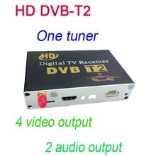 HD DVB-T2 Un Sintonizador de TV Digital receptor de Vídeo 4 Salida de Audio 2 salida Cupo Todo el Coche dvd M-689 sólo venden con nuestro coche dvd juntos