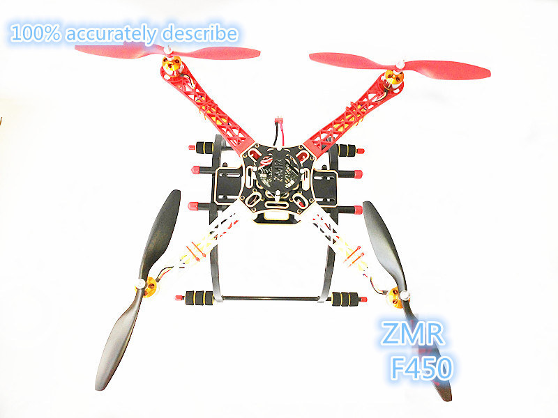 DIY FPV drone ZMR F450 quadcopter frame kit body + power kit XXD2212 1000KV motor +30A ESC +1045 prop smartx a airgear200 self locking prop copter arm for diy fpv drone
