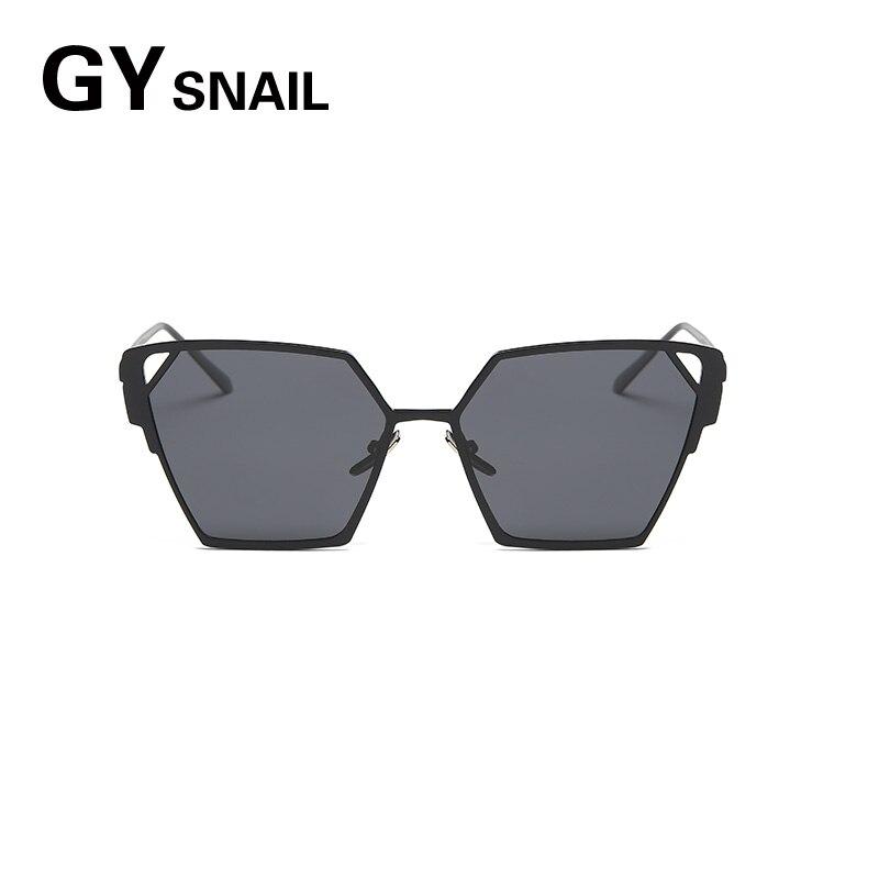 GYsnail Fashion Oversize Hollow Hexagon Sunglasses For Women Unique Metal Frame Female Big Mirror Sun Glasses