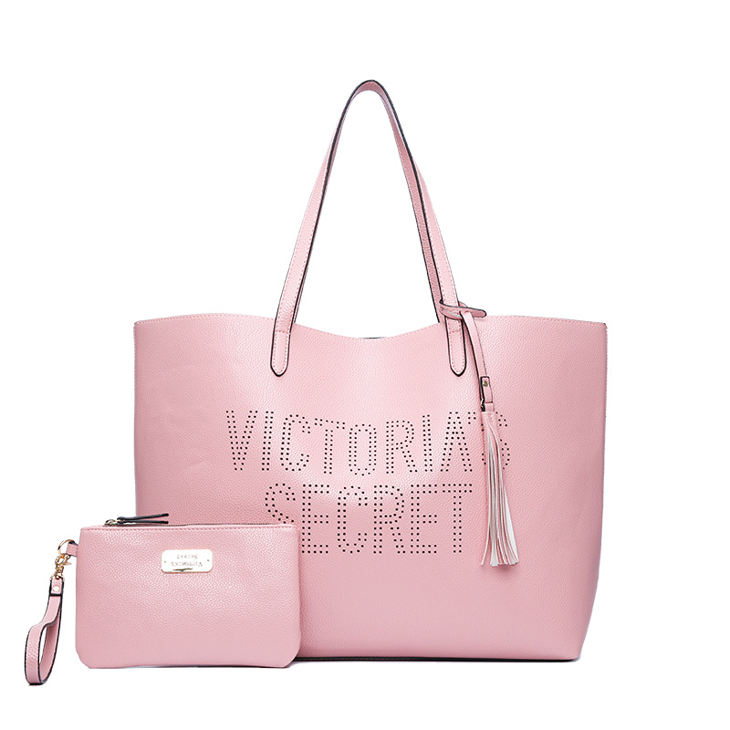 2pcs/set vs love pink girl bag travel duffel bag women Travel SHOULDER BAG <font><b>Handbags</b></font> beach large secret capacity shopping bags