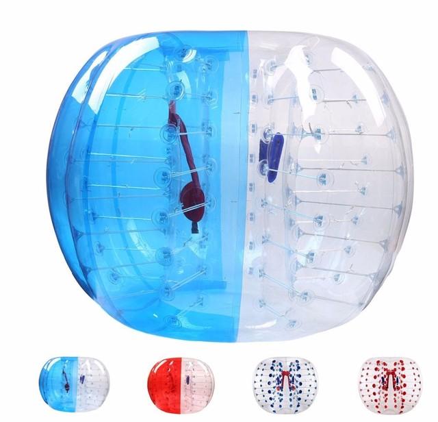 Burbuja para fútbol Zorb Ball 0,8mm TPU 1,2 M 1,5 M 1,7 m pelota de choque de aire adulto inflable burbuja de fútbol, Zorb Ball para la venta
