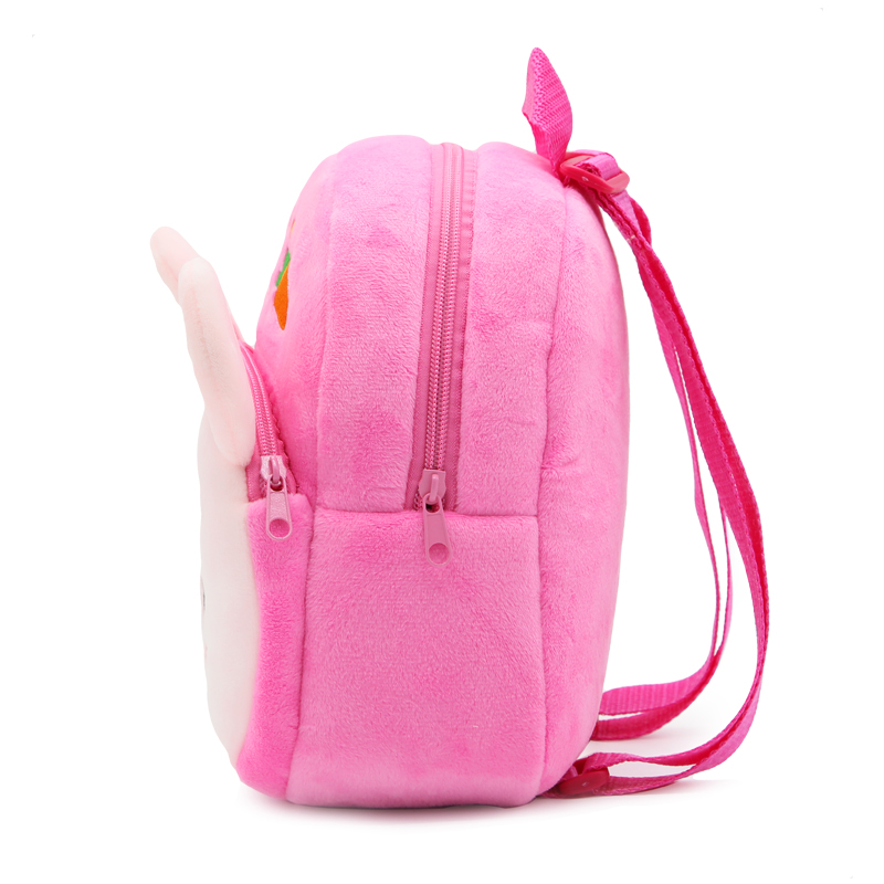 cf00eff529 Kawaii Baby Children Animal Rabbit Backpack Soft Flush Cute Little ...