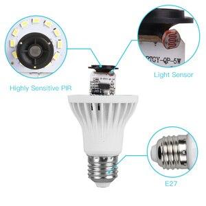 Image 3 - サウンドpirモーションセンサー電球110v 220vスマートナイトライトE27赤外線センサーled常夜灯電球ホーム階段廊下