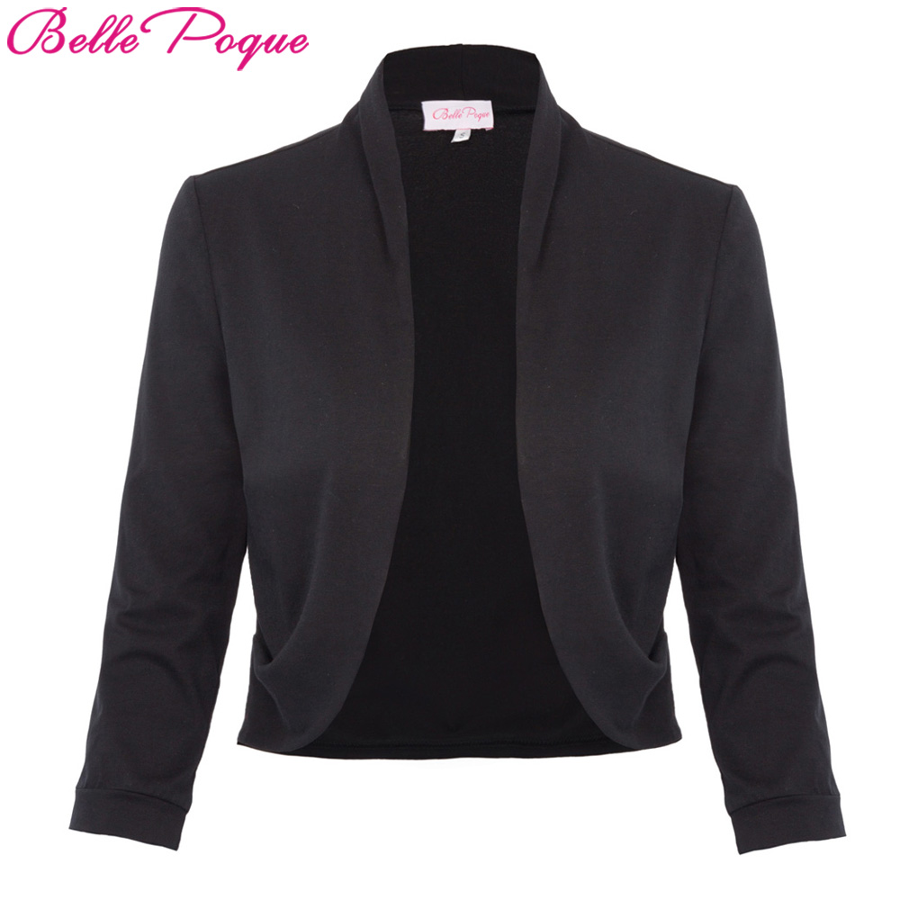 Spring Autumn Tops Jacket Women Black Sh