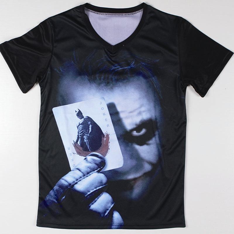 Cool Graphic Design Batman Joker T Shirts Short Sleeve Male ...