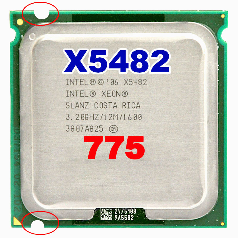INTEL xeon X5482 שקע LGA775 מעבד 3.2 GHz/12 MB L2 מטמון/Quad Core/FSB 1600 מעבד עם מתאמים