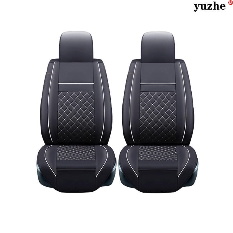 2 pcs Leather car seat covers For Mitsubishi Lancer Outlander Pajero Eclipse Zinger Verada asx I200 car accessories styling