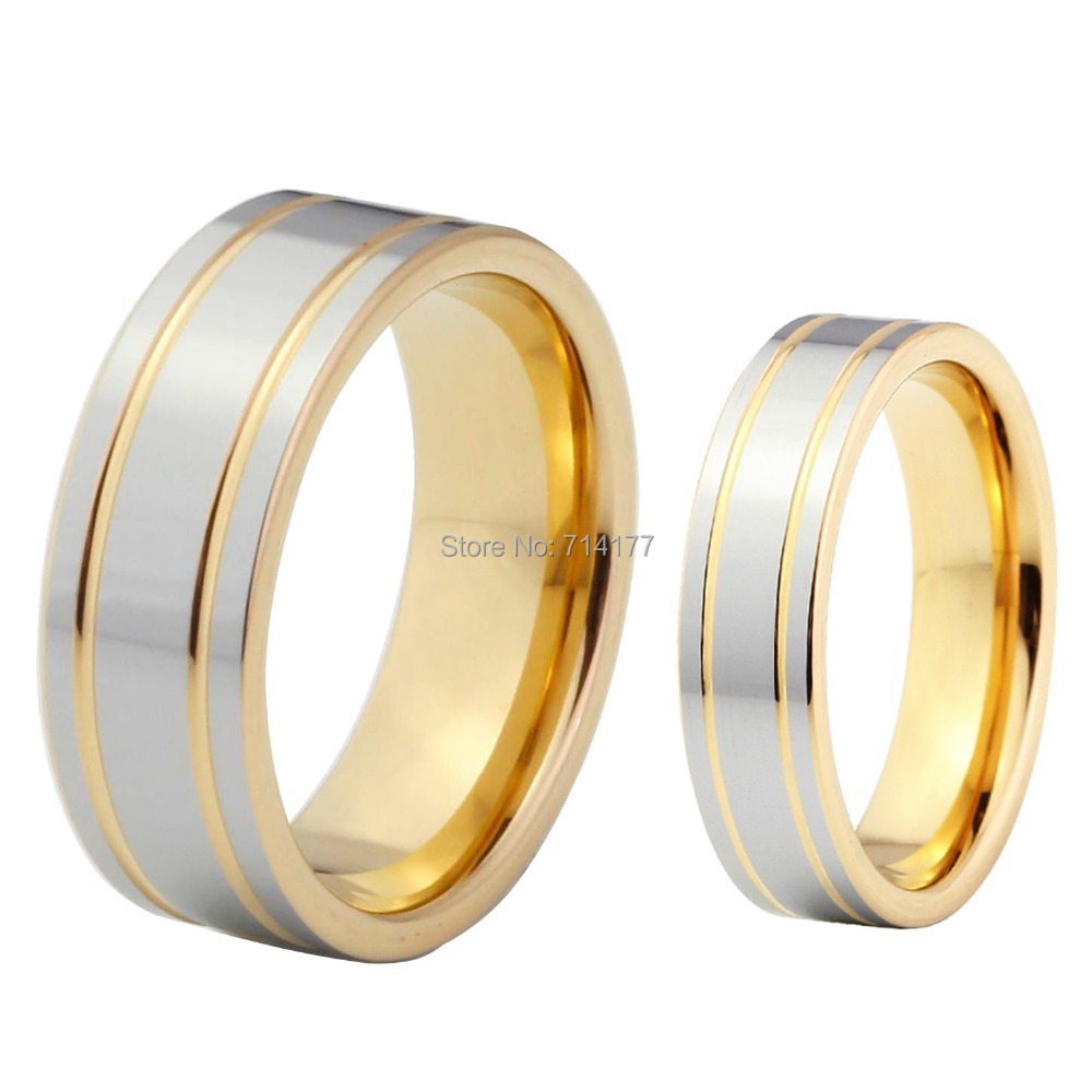 womens tungsten wedding bands price wedding band prices Very nice two tone style gold color tungsten wedding band for men and women