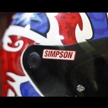 Personality helmet stickers Simpson Reflective sticker DIY Motorcycle sticker