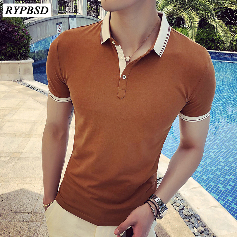 2018 New Summer Mens   Polo   Shirt Casual Slim Fit   Polo   Shirt Men Short Sleeve Breathable Camisas   Polo   Hombre Masculina
