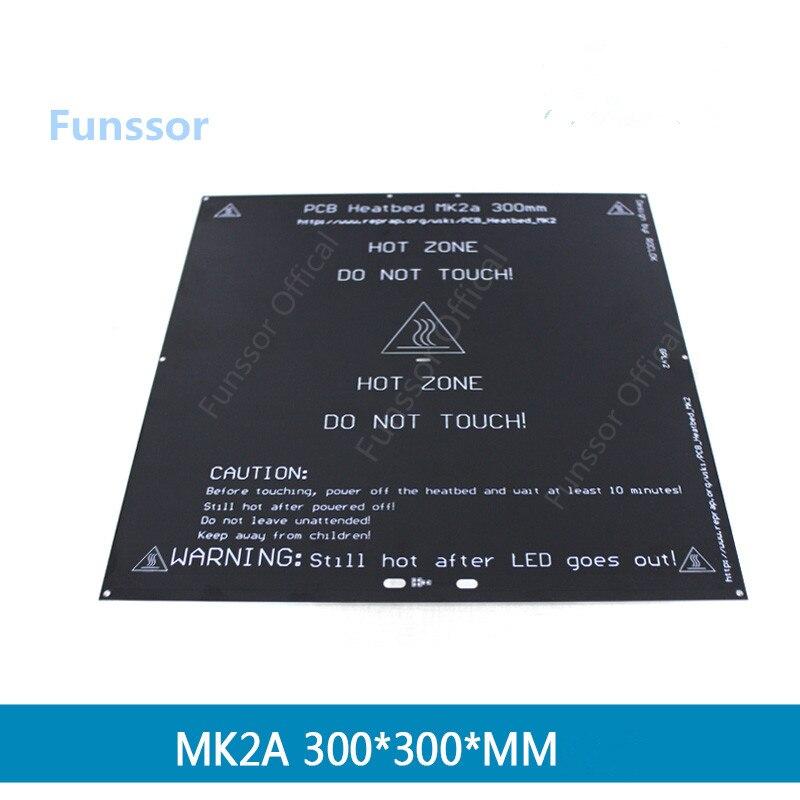 Funssor 3D imprimante pièces 300*300 PCB lit chaud 3 MM MK2A plaque d'aluminium