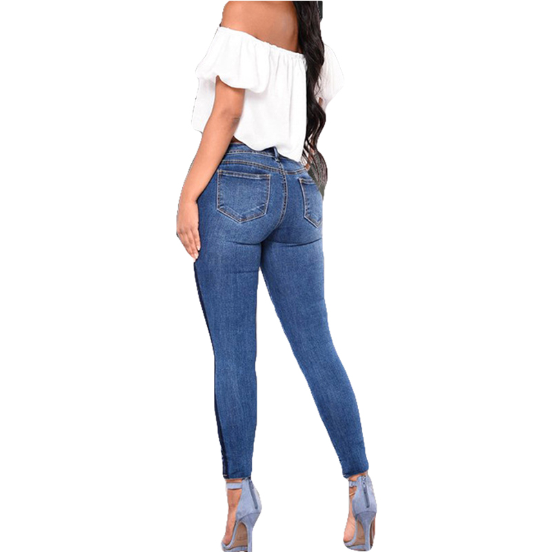 New Arrivals Plus Size Fashion Woman Washed Denim Skinny Jeans S XXXL High  Quality Embroidery Cut Out Butt Lifting Jeans Online -in Jeans from Women s  ... 0b4cbcd240b8