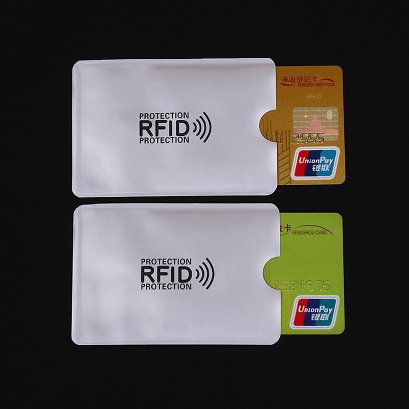 20Pcs Anti Rfid Wallet Blocking Reader Lock Bank Card Holder Id Bank Card Case Protect Metal Credit Card Sticker Toys Holder