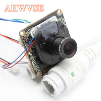AHWVE DIY 1080P 2MP IP Camera Module Board With IRCUT RJ45 Cable ONVIF H264 Mobile APP