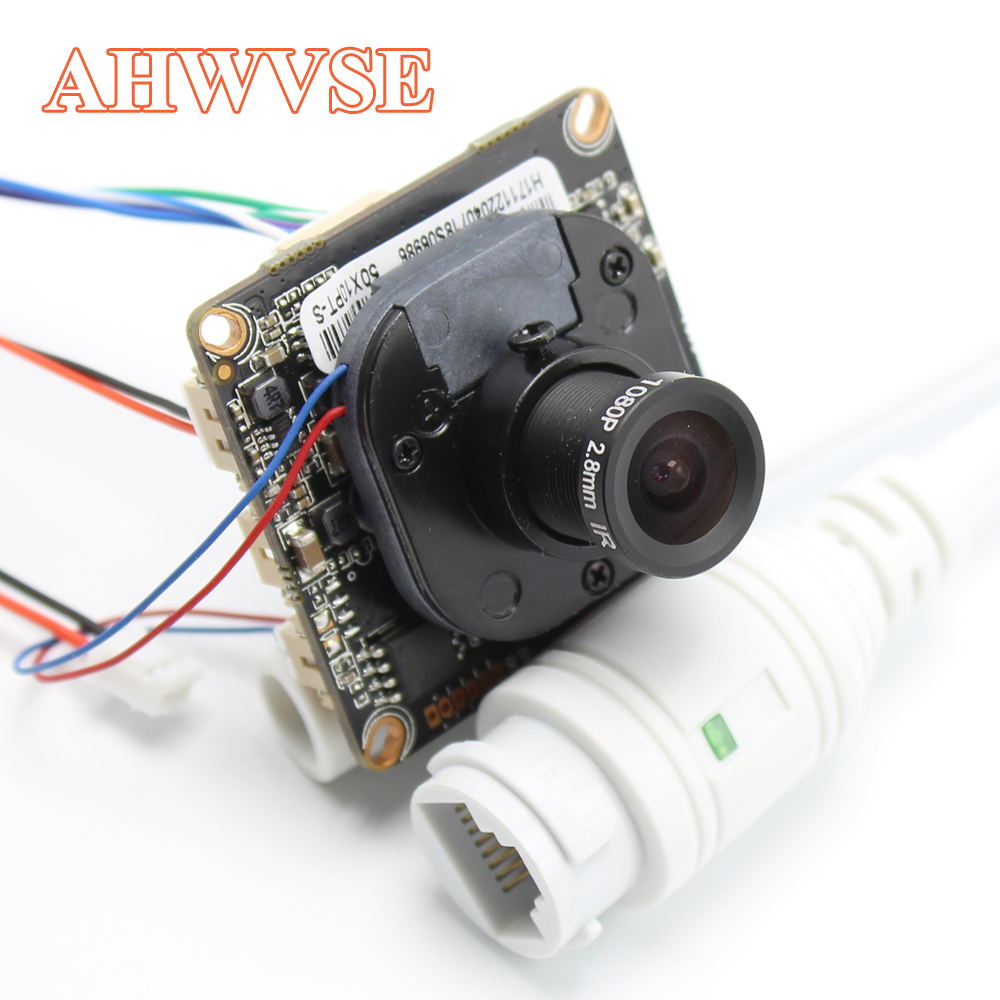 AHWVE DIY 1080P 2MP IP Camera module Board with IRCUT RJ45 Cable ONVIF H264 Mobile APP XMEYE Serveillance CMS 2.8mm Lens image