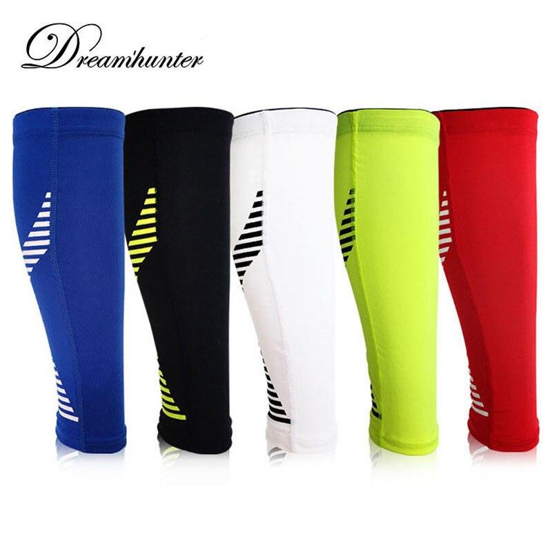 Silicone Antiskid Calf Leg Brace Support Stretch Sleeve Basketball Football Leg Sleeve Sports Knee Pads Exercise Leggings