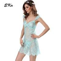 Gorący 2017 Nowych Przyjazdowych kobiet Moda Darmowa Wysyłka Sexy Lace Hallow Out Poślizgu Śpiąca Sukienka Koszule Nocne Piżamy Hurtownie