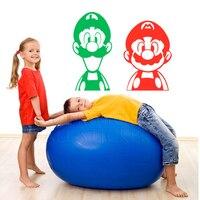 2x סופר מריו האחים Luigi וידאו משחק Nintendo סרבל תינוקות וול מדבקת קיר מדבקות טפט לאמנות ילדים וי חדר 41x82 ס