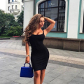 Women drss Fashion hot style Casual Solid Sleeveless robe femme plus size women clothing Black dress