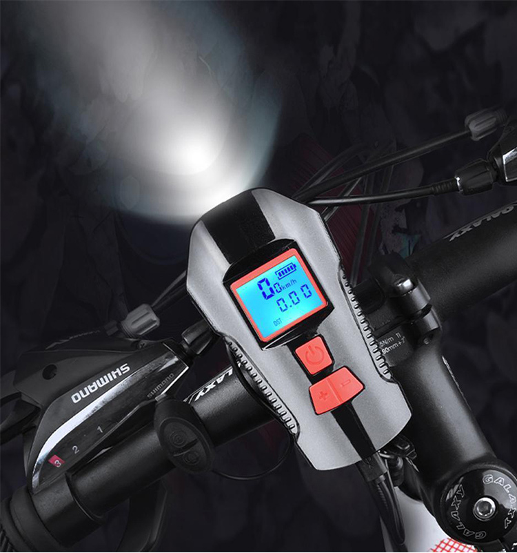 Waterproof Bicycle Front Light with USB Charging, Speed Meter and LCD Screen 16