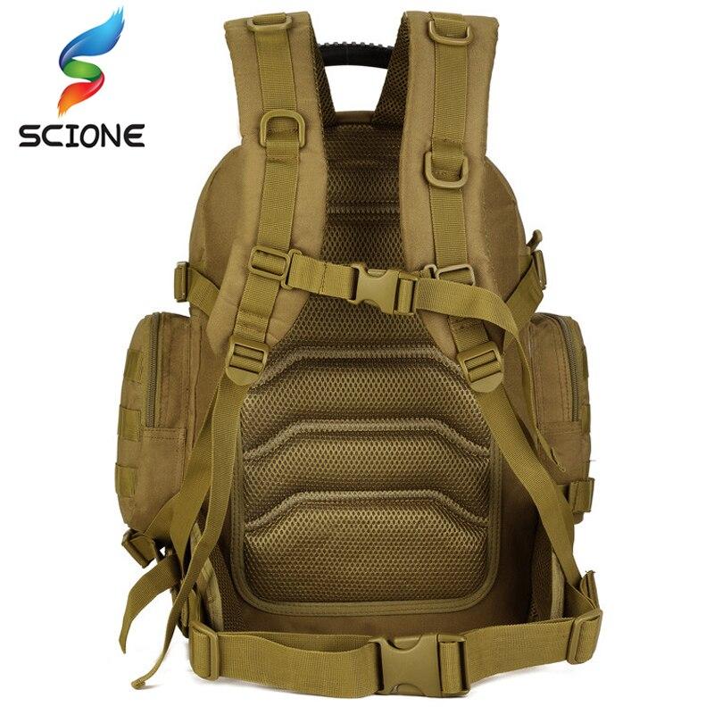 Al aire libre 2 Set mochilas tácticas Unidades militares bolsas de Camping bolso de Montañismo mochila de senderismo para hombre Mochila De Viaje + Paquete de cintura - 4