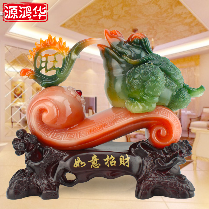 2016 Real Sale Home Decoration Accessories Fangyu For Wishful Lucky Toad Ornaments Crafts Living Room Desktop 29 * 15 * 25 cm