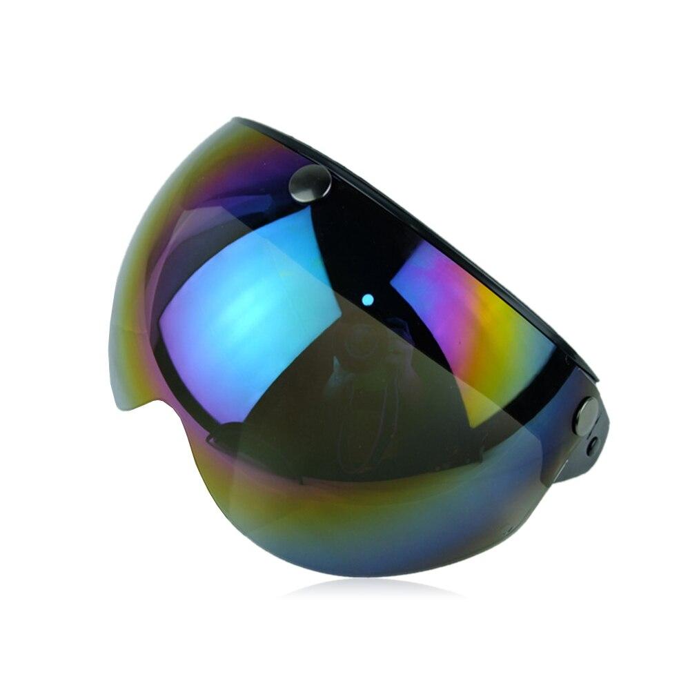Маска для мотоциклетного шлема защитное ветровое стекло Солнцезащитный козырек очки замедление - Цвет: multicolor