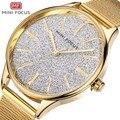 MINIFOCUS для женщин нарядные Кварцевые часы Женские часы Новые модные женские часы известного бренда Montre Femme Relogio Feminino