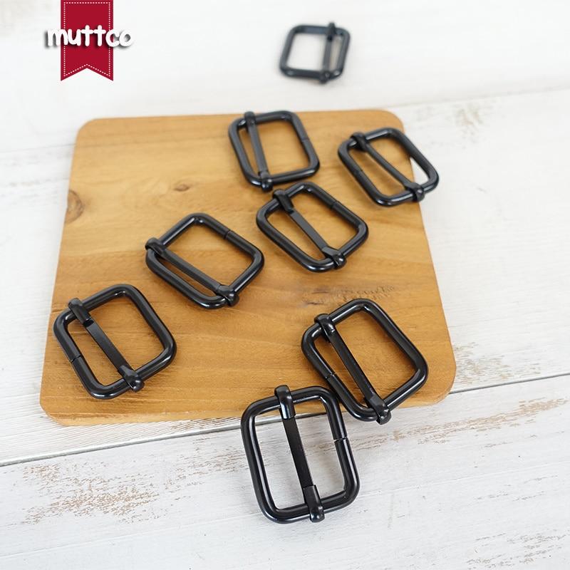 Buckles & Hooks Competent 100pcs/lot Metal Roller Adjustable Buckle Environmental Slider 25mm Black High Quality Backpack Diy Dog Collar Parts Lxk-007