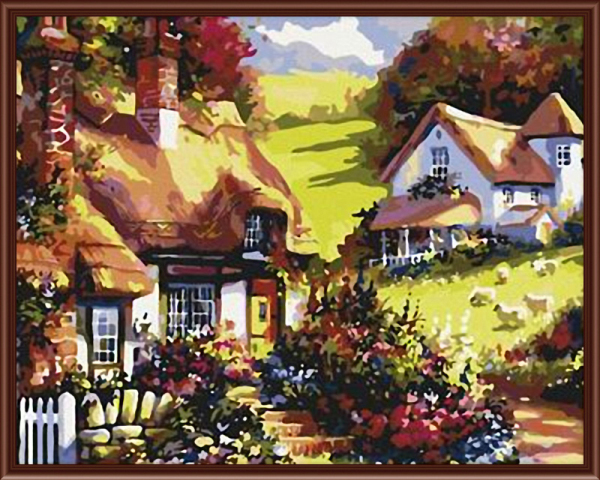 Frameless Wall Art Pictures Painting By Numbers Of Beauty Houses On ...