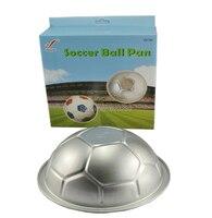 10 Inch Soccer Ball Shaped Aluminum Fondant Cake Molds Baking Tools Hemisphere Cake Moulds Pan Cooking
