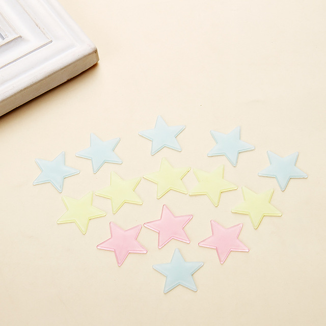 * 100 pcs. 3D stars glow in the dark Luminous on Wall Stickers for Kids Room living room  Wall Decal Home Decoration poster 3