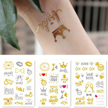 390d1d5d04d5b Team bride tribe Flash Temporary Tattoo Gold silver Metallic arrow Love  bachelorette party Bridesmaid shower wedding decoration