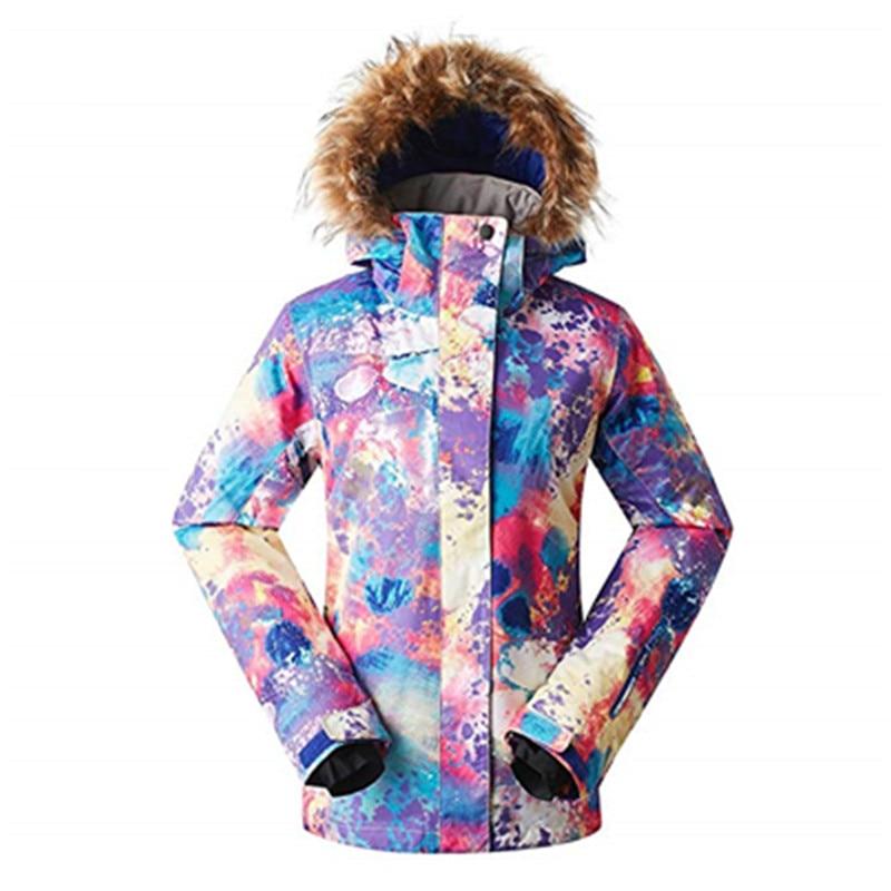 886a2382167df 2017 Женская водонепроницаемая зимняя теплая горнолыжная куртка GSOU SNOW,лыжи  пальто женское,горнолыжный костюм