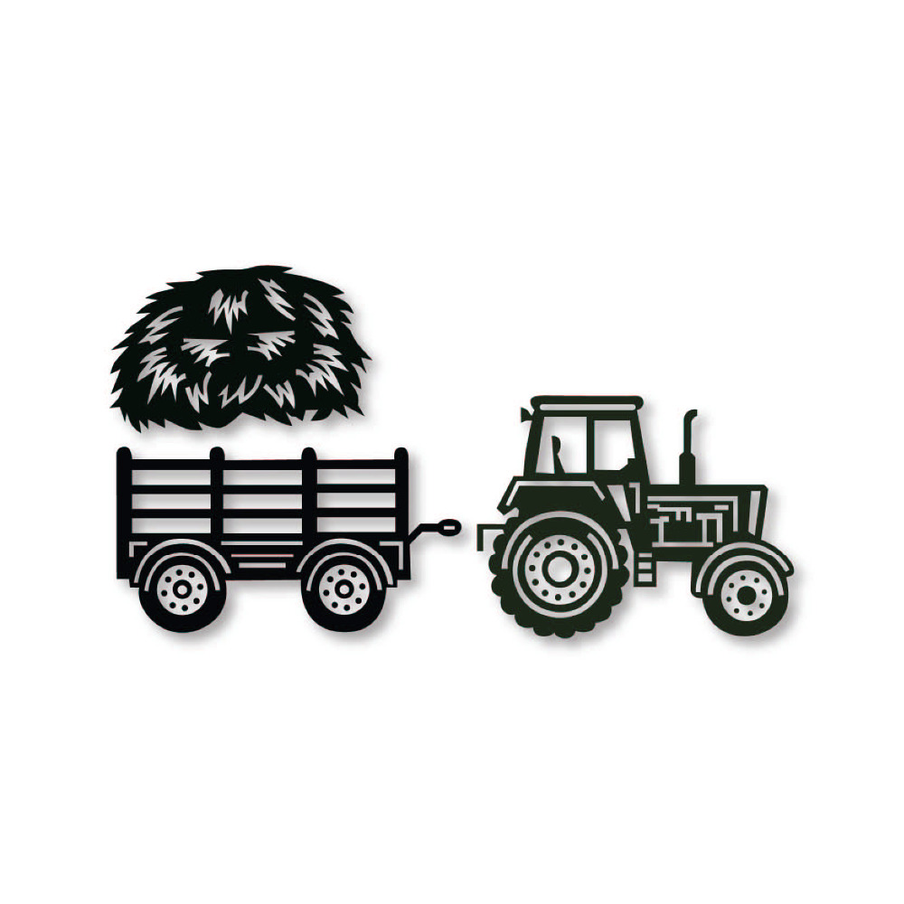 Farm Farmer Tractor die cutters Stencil Metal cutting Dies Scrap booking Cards