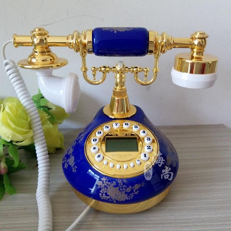 Genuine blue wind blue and white porcelain European Garden Ceramic antique telephone fashion cute home phoneGenuine blue wind blue and white porcelain European Garden Ceramic antique telephone fashion cute home phone