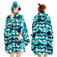 Yuding Woman Raincoat Female Ladies Bicycle Rain Coats Impermeable Polyester Lady Poncho Hooded Outdoors chubasquero mujer