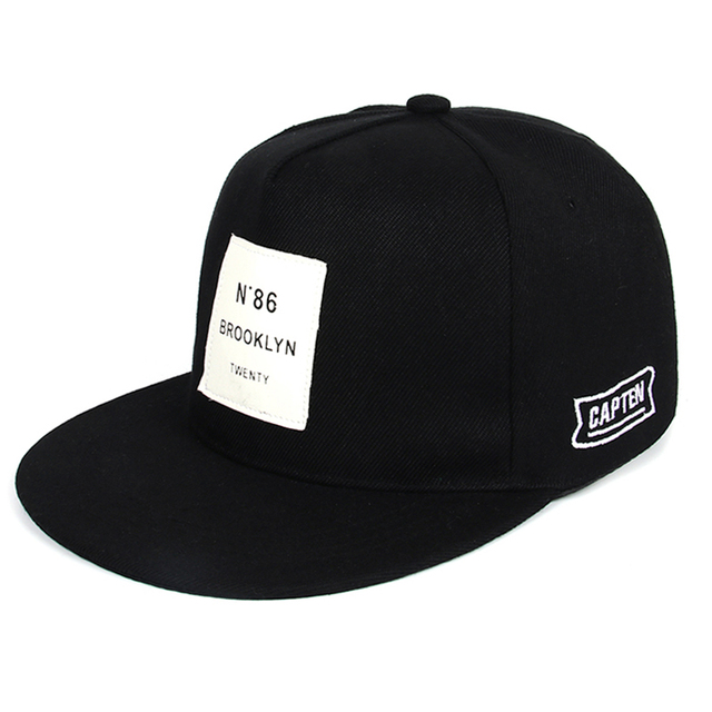 d81c6507b95 Black Snapback Cap Men Hip Hop Baseball Cap Men Summer Baseball Caps  Fashion Hats For Men