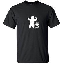 Men 2017 Creative Design Round Neck Men's T Shirt Bear Grills – Funny T-Shirt Black White Custom Sizes 100% Cotton Geek Family T