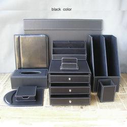 10 Stks/set leder kantoor bureau organisatie set schrijfbord archiefkast bestand stand briefpapier organisator pen box K252