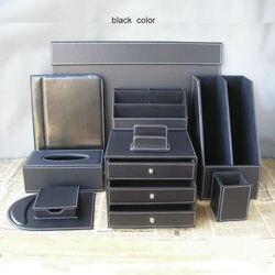 10 unids/set cuero negocios Oficina escritorio organización set escritura tablero archivo soporte papelería organizador pluma K252