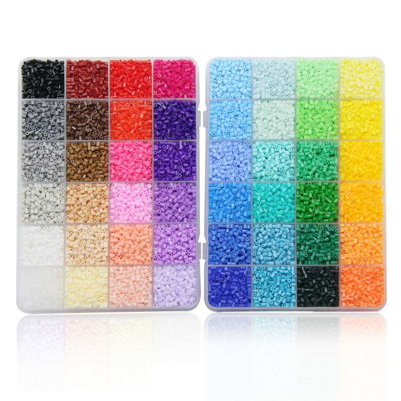 48 Color Box Set Artkal Mini Fuse Beads Plastic EVA Perler Beads Diy Pixel Arts Handmade aliexpress com buy 48 color box set artkal mini fuse beads fusebox creative at bakdesigns.co
