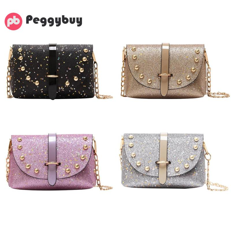 1e300ee81acc Bling Glitter Sequins Mini PU Party Shoulder Bags Women Messenger Bags  Chain Shoulder Crossbody Bag Designer bolso sac main-in Top-Handle Bags  from Luggage ...