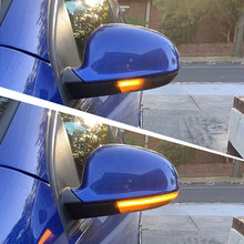 2pcs For Vw Golf 5 Gti V Mk5 Jetta Passat B5.5 B6 Sharan Superb Eos Dynamic Led Turn Signal Light Side Wing Mirror Indicator(China)