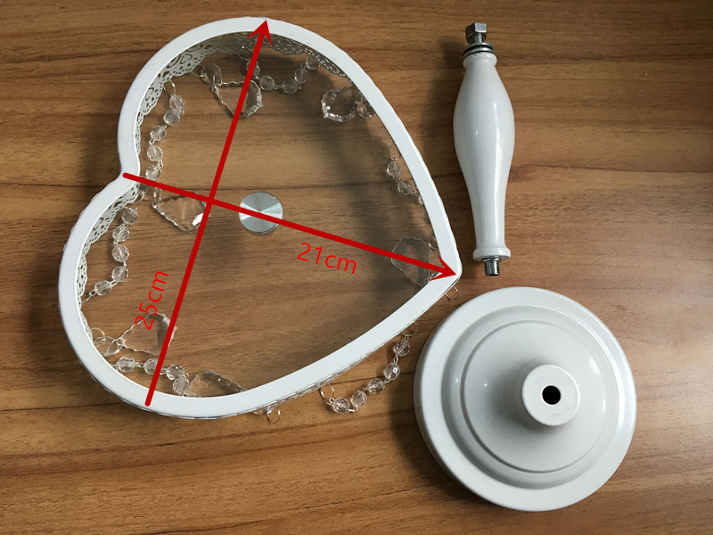 New arrive heart cake stand cake plate fruit plate for wedding cake decorated European style in Stands from Home Garden